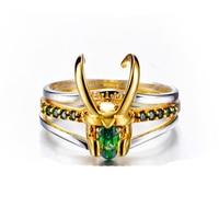 2019 Loki Helmet Ring Avenger Charm Superhero Jewelry 925 Silver Loki Ring For Men Women Valentine's Day Present/Gift Unisex