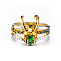 2019 Latest Design Marvel Movie Charm Jewelry Ring 925 Silver Loki Ring For Men Valentine's Day Present/Gift