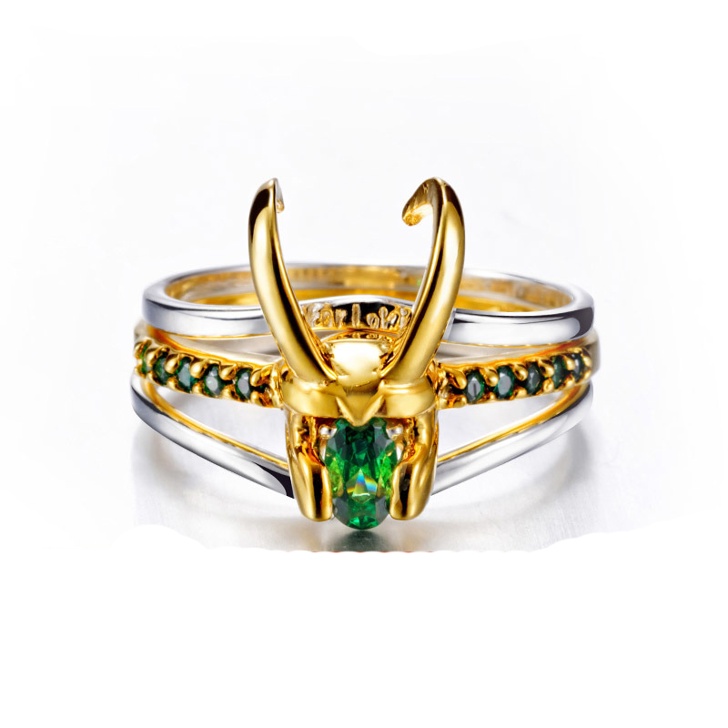 2019 Loki Helmet Ring Avenger Charm Superhero Jewelry 925 Silver Loki Ring For Men Women Valentine's Day Present/Gift Unisex