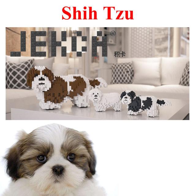 Jekca Stacking Blocks Shih Tzu Assembled Toy Diy Model Dog Child