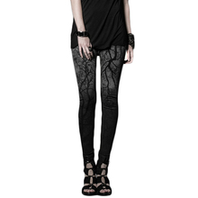 Steampunk Fahsion Women's Long Trousers Gothic Branches Printing Pants With Elastic Waist Plus Sizes Punk Leggings K-181