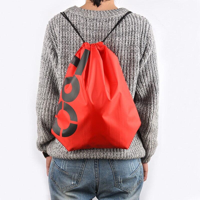 Oxford Waterproof Drawstring Backpack Cartoon Letter Pattern Bag Summer Beach Rucksack Women Men Travel Drawstring Bags 5 ...