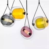 Modern Creative Glass Led Pendant Light Designer Czech Capsula Brokis Hanging Lamp For Living Room Dining Room Personalized Lamp