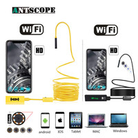 Antscope WIFI Endoscope Camera 8mm HD 1200p Snake Cable Borescope Inspection For Android iOS Lithium Battery Endoscopio D30