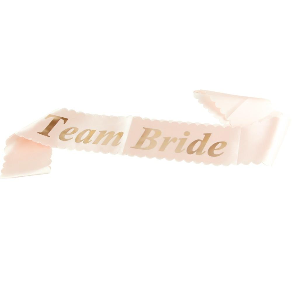 Rose Gold /'Bride To Be/' Hen Party Satin Sash Bachelorette Bridal Shower Wedding