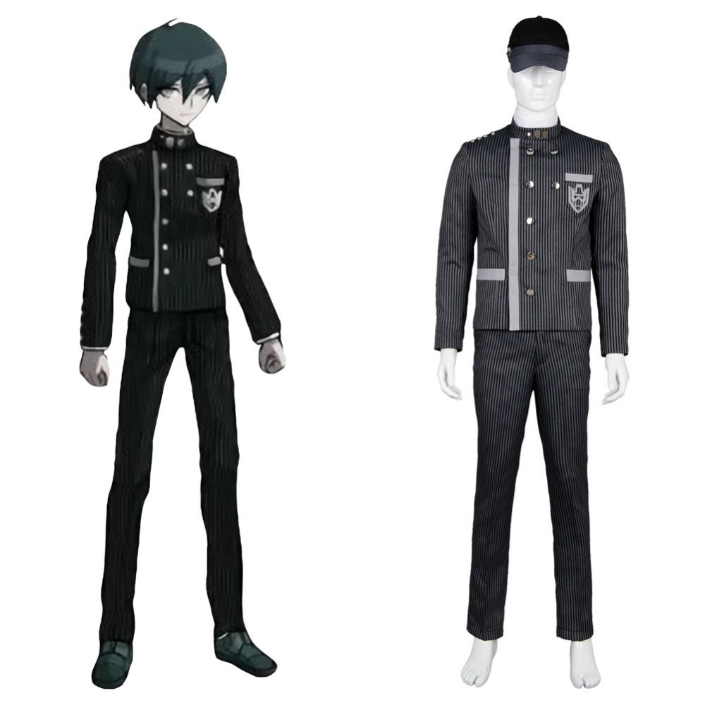 Danganronpa V3 Cosplay Costume Saihara shuichi Adult Cosplay Costume Outfit Suit Uniform Halloween Party Full Set