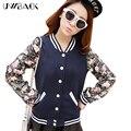 Nueva Marca Bomber Jacket Women baseball jacket women coat lindo más tamaño remiendo de la impresión delgada chaqueta de primavera mujeres TB272