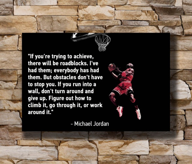 Michael Jordan Quotes Basketball Top Star Home Decoration Poster