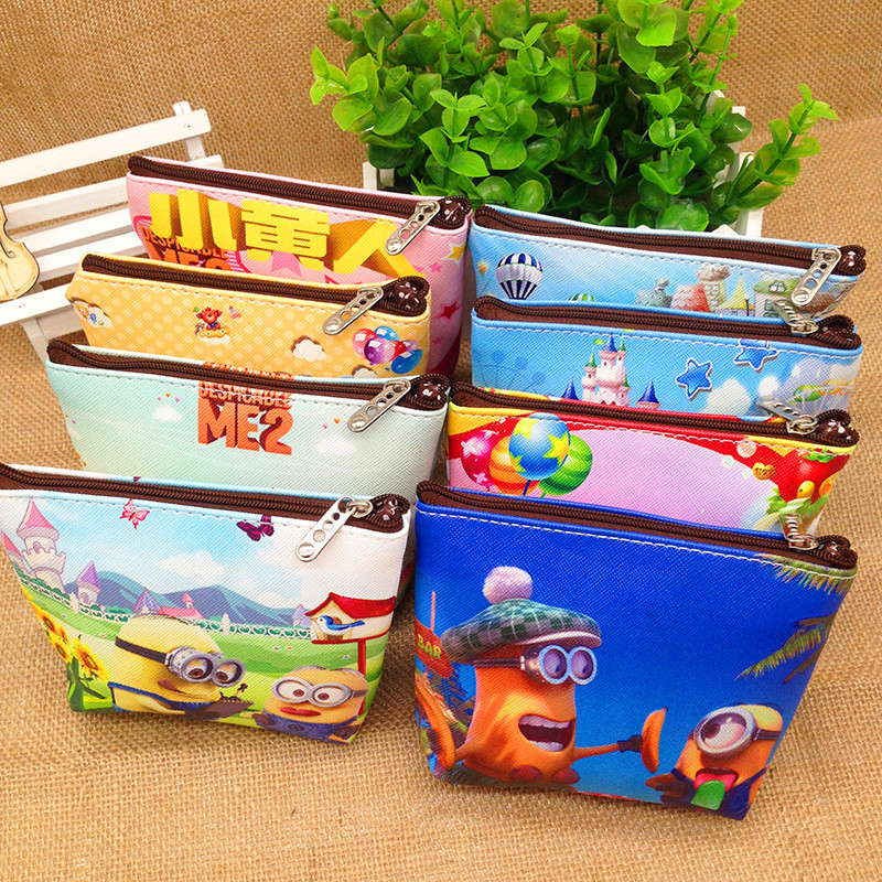 New Arrival Fashion Cartoon Key Coins Zero Wallet Coin Purses Lovely Children Cards Bag Kids Wallets coin purses the movie aladdin and the magic lamp pattern lamp zero wallet coin bag children birthday gift lqb1058