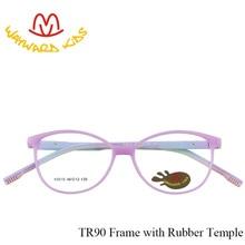 ce44fd0a5 Rebelde De Segurança Crianças Armações de Óculos Bonitos Óculos Quadrados  Luz TR90 Duplo Cor Templo Óculos Limpar Lens Óculos pa.