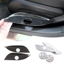 Housse de siège intérieur de voiture, Texture en Fiber de carbone, pour Mercedes Benz E C GLC GLS Class W212 W205, bouton de commutation
