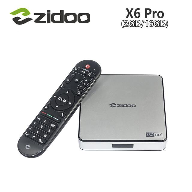 [Auténtica] ZIDOO X6 Pro Android 5.1 Piruleta TV Box RK3368 Octa Core 2 GB/16 GB 1000 M LAN Dual WIF KODI H.265 BT4.0 4 K * 2 K 3D