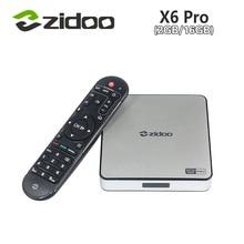 [ของแท้] ZIDOO X6 P Ro A Ndroid 5.1อมยิ้มทีวีกล่องRK3368 Octa Core 2กิกะไบต์/16กิกะไบต์1000เมตรLAN Dual WIF BT4.0 4พัน* 2พันH.265 KODI 3D