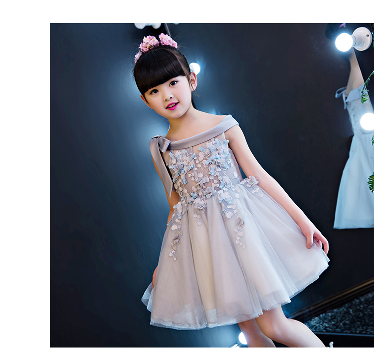 2018 spring girl lace long prom dress lace up back floral baby kids princess wedding formal party big bow ball gown teens frocks girl lace long dress with sweet flower for age 3 7 baby kids princess wedding prom party white cream big bow long sleeves dress