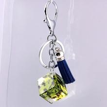Liga de Zinco de Cristal de vidro Moda Coreana Fivela Acessórios Do Carro chaveiro em lote conjunto da cadeia de moda chave da cadeia de telefone Móvel 7