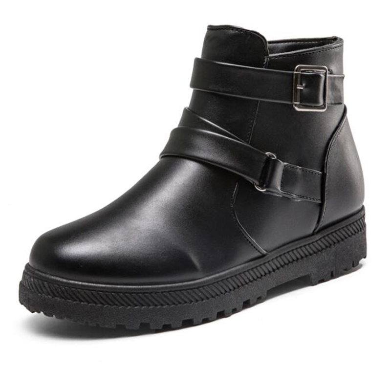 Martin Plana Grandes blanco Hebilla Wbs820 Tamaños De Nuevo Zapatos Casual Covoyyar Mujeres Negro 2019 Confort Invierno marrón Algodón Las Botas rojo X7qnCR