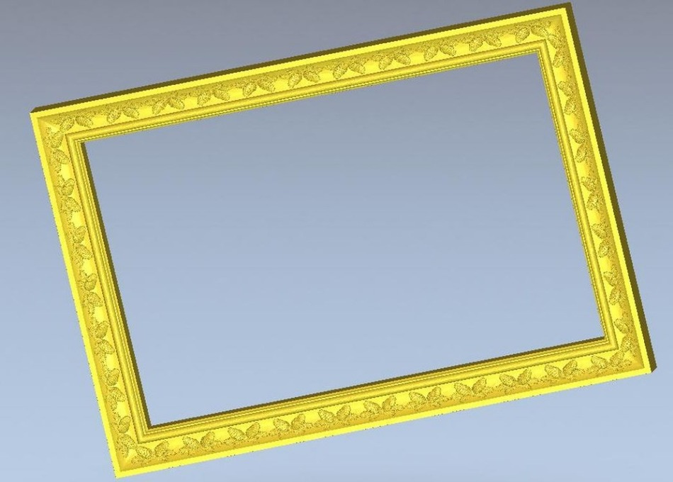3d Model Rectangle Frame Relief For Cnc Machine In STL File Format Simple Border --3