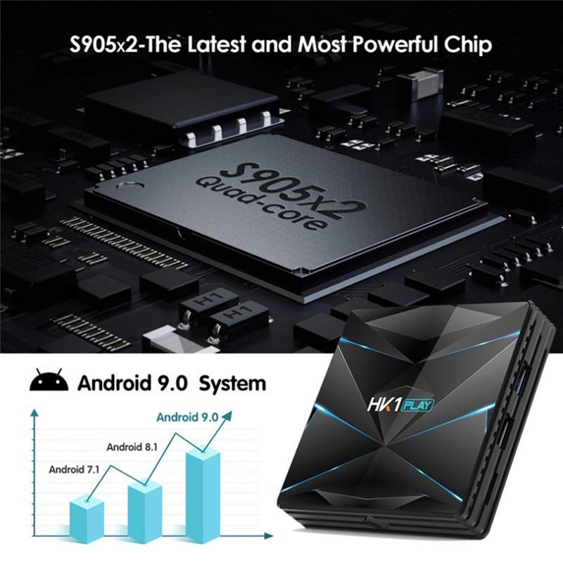 מחשבי וברזי השקיה Android9.0 HK1 MAX 4K HD Smart TV Box 2 / 4GB + 16/32 / 64GB Dual wif 3D Smart Media Player (5)