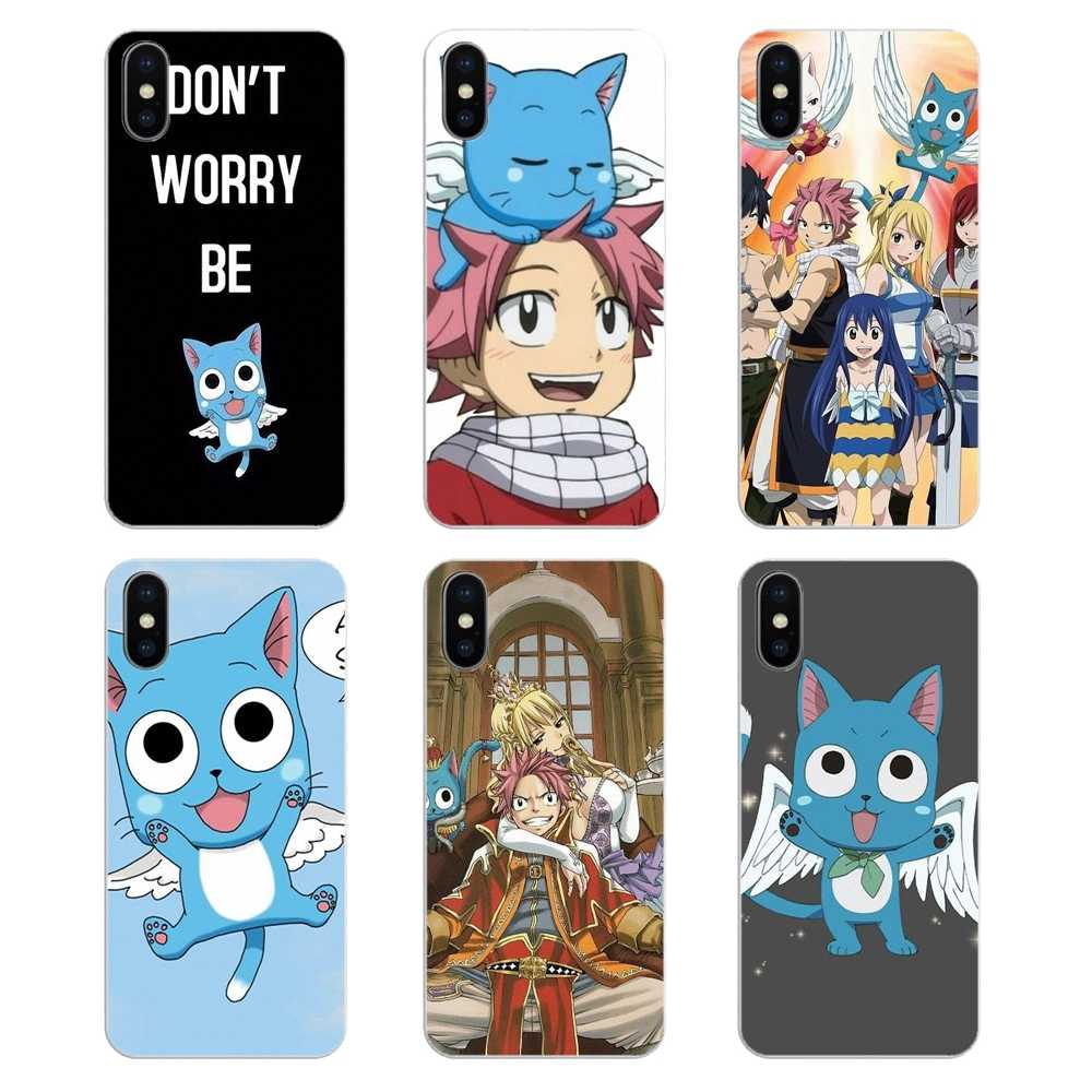 Happy Natsu flying cat Fairy Tail Art For Huawei Honor 8 8C 8X 9 10 7A 7C Mate 10 20 Lite Pro P Smart Plus Silicone Phone Covers