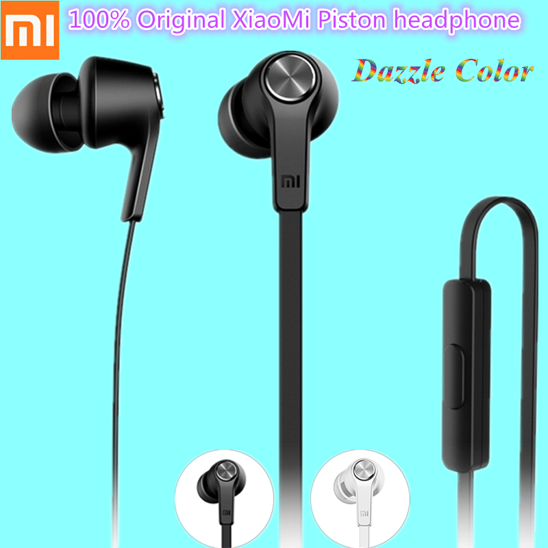 Cheap 100% Original Xiaomi Piston Earphone Dazzle Color Edition In-Ear Stereo Headphone Mic & Remote Headset For Phone Mp3 Music