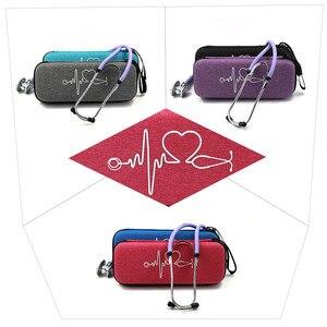 Image 4 - ハード EVA ポータブル聴診器キャリングケース収納ボックスシェルメッシュポケット 3 3m III 聴診器医療オーガナイザーバッグ