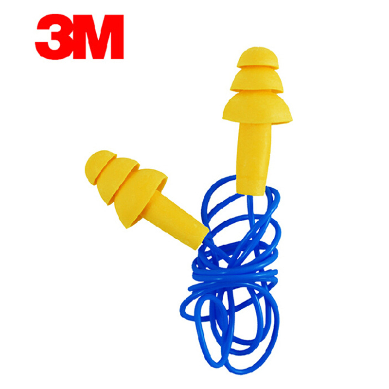 10pcs 3M340-4004 Αυθεντικό αφρό μαλακό σιλικόνης EarPlugs Μείωση θορύβου χριστουγεννιάτικο δέντρο Ακουστικά Κολύμβηση Προστατευτικά ακουστικά