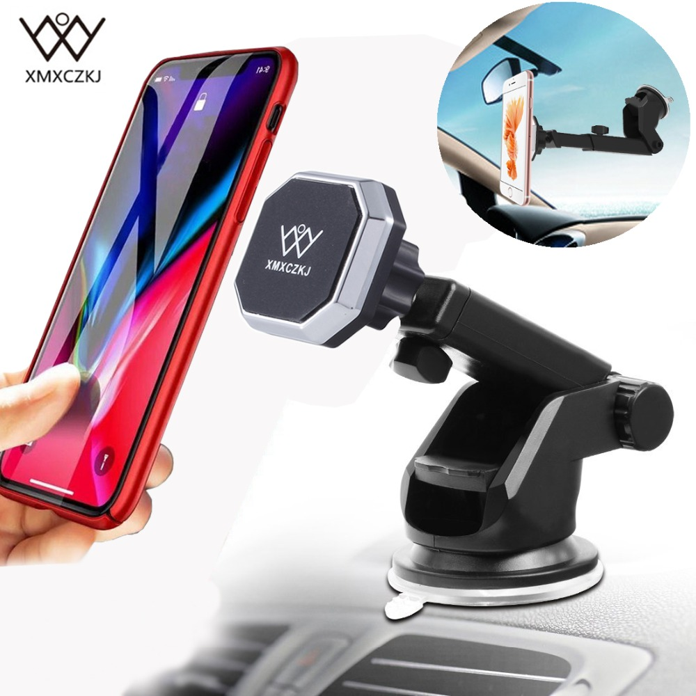 Universal Magnetic Car Phone Holder Adjustable Magnet Car Windshield Dashboard Mount Holder Stand For IPhone 7 7Plus Samsung GPS