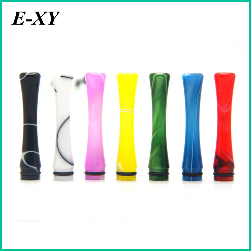 E XY 510 Drip Tips long 45mm 7 Colors Acrylic 510 Drip Tips Fit for 510