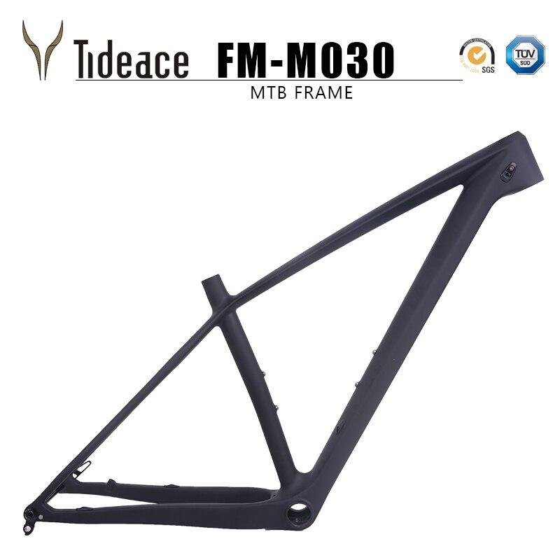 Tideace 142x12 ou 148x12 milímetros através do eixo impulso MTB quadro de carbono 29er Mountain Bike Quadro 29 máximo de 2.35 peças de pneus de Bicicleta