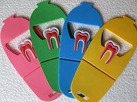 Dental Lab Ps4 Enquipment Dentist 5pcs Rubber Molar Shaped Cell Phone Name Card Holder Case Holder