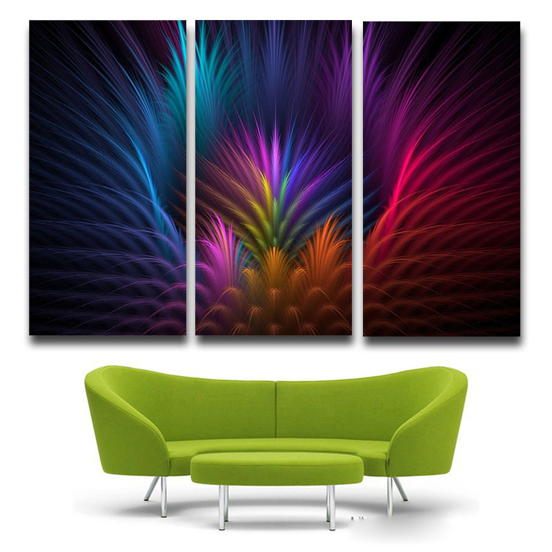 paneles acuarela pluma de color canvas art print poster pared cuadros para la decoracin del