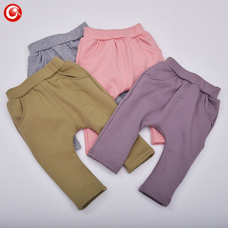 7-24M Baby Winter Tights For Boys Warm Plushed Kids PP Pants For Girls Infantil Bebes Thicken Trousers Clothes 2016  (3)