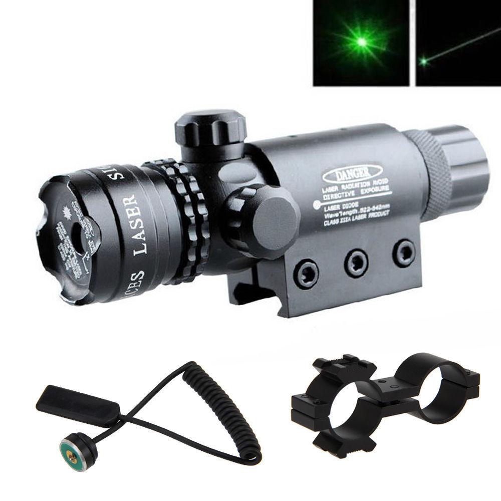 Werkzeuge Taktische Jagd Gewehr Grüne Laser Anblick Dot Umfang Einstellbare W/mount Laser Ebenen Grün Licht Fokus Gauge
