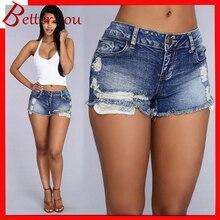 2019 summer new design popular women shorts low waist hole denim