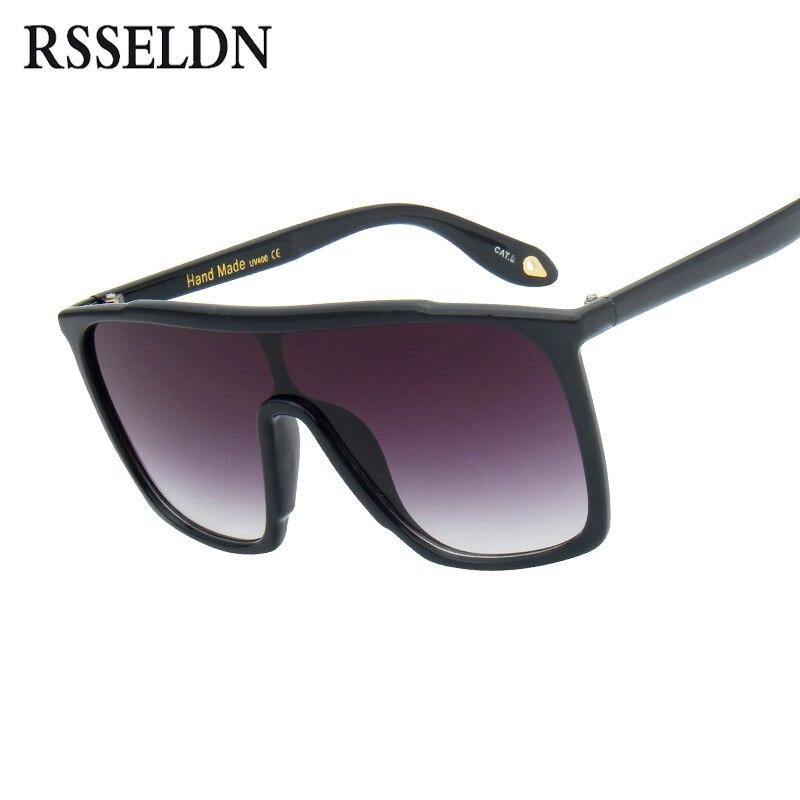 Rsseldn gran tamaño Gafas de sol mujeres gradiente lente Sol Gafas para las mujeres full Marcos sombras Ladies Gafas marca diseñador UV400