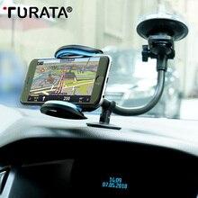 TURATA Универсальный Автомобильный Кронштейн для мобильного телефона, подставка, лобовое стекло автомобилей, длинная рука, смартфон, автомобильный держатель для iPhone, samsung