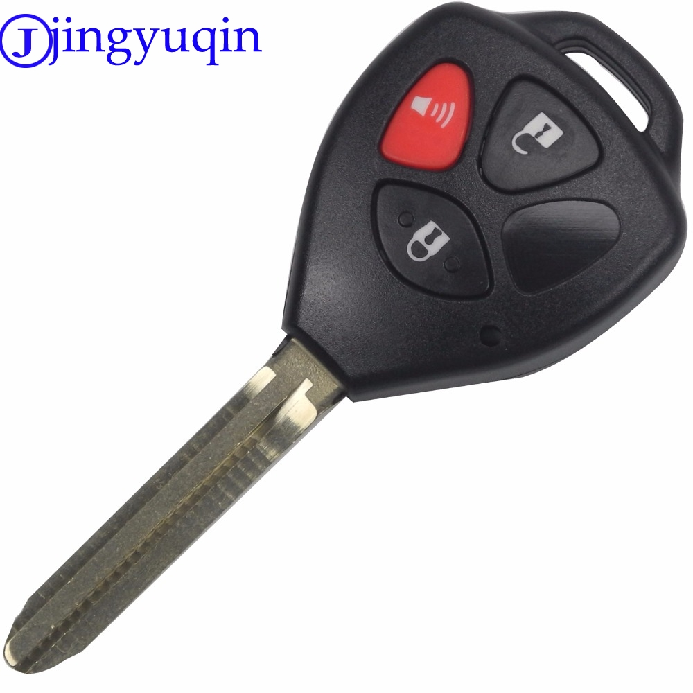 Jingyuqin 3 buttons remote car key shell case fob replacement for toyota camry cover blank 2