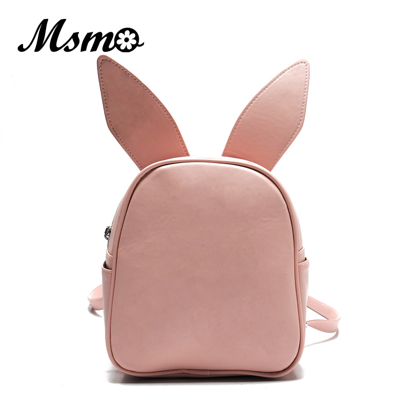 MSMO Small Backpack with Three Pairs of Ears Can Replace the Small Back <font><b>Pack</b></font> Cute Modeling Trend Backpack Bat Wing Shoulder Bag