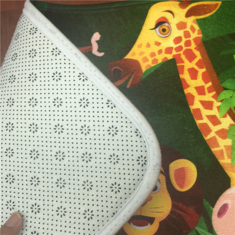 2017 Zoo Tiger Giraffe Flannel Carpet Pad Brand Kitchen Toilet Mat