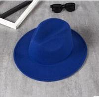 Fast Shipping FransTui Female Hair Visor Vintage Jazz Hat Brim Hat Large Solid Wavy Hat