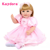 Kaydora 50 CM Princess Doll bonecas princesas Adorable Soft Silicone bonecas reborn bebe reborn com corpo de pano Dolls lol Girl