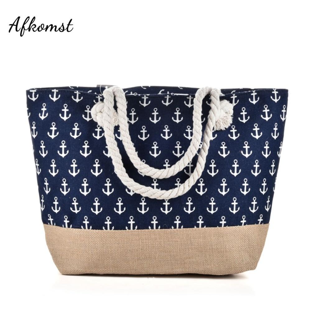 Canvas Zipper Woman Handbag Las