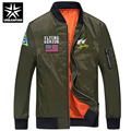 URBANFIND Men Bomber Jacket / Pilot Jackets Big Size M-4XL Military Style Man Autumn Casual Coats Black / Blue / Army Green