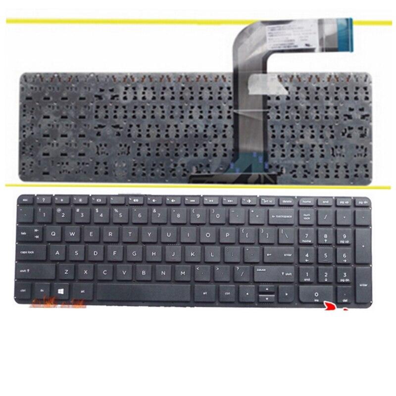 English Keyboard FOR HP 762529-001 765806-001 9Z.N9HSQ.701 V140646BS1 AEY14U00410 2B-08601Q100 US