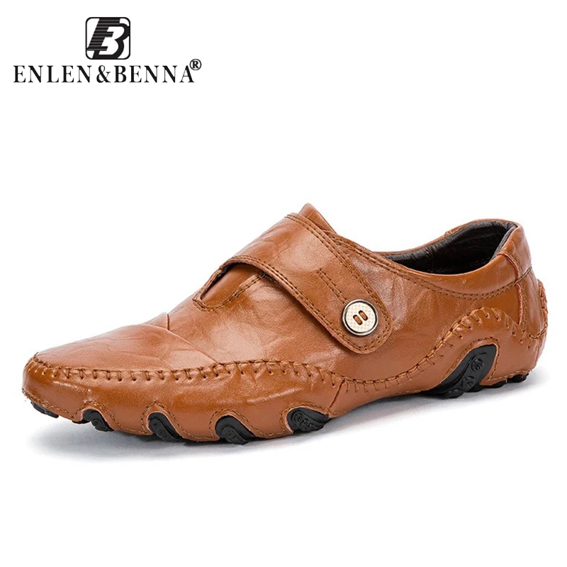 Mens Casual Shoes British Style Moccasins Genuine Leather Flats Zapatos Hombre Loafers Footwear Men Winter&Sping Chaussures ...
