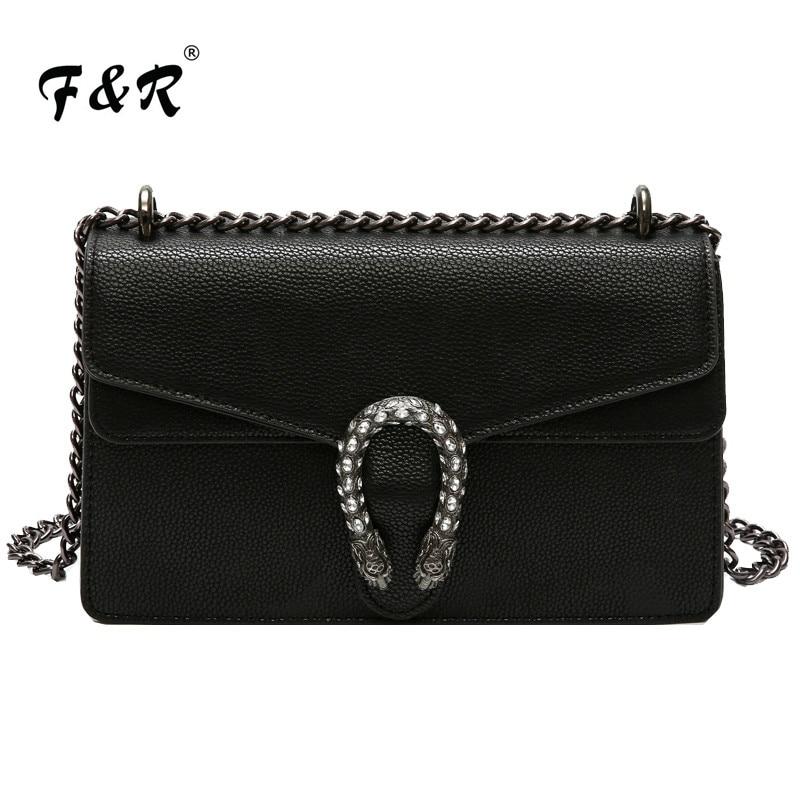 Fashion Chain Printing Messenger Bag Lady Snake Head Shoulder Bag High Quality PU Leather Crossbody Bags for Women louis gg bag