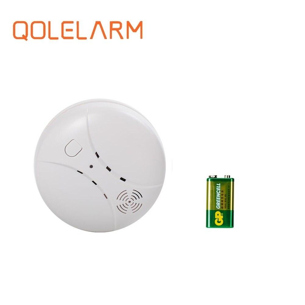 QOLELARM Free Shipping 1 Pc/lot 433 MHz Wireless Fire Smoke Detector Sensor For Gsm Alarm Kit