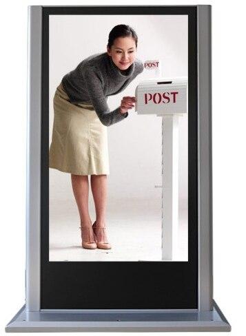 1920x1080 p 42 46 55 65 pouces plancher debout extérieur lcd affichage publicitaire totem écran tactile kiosque