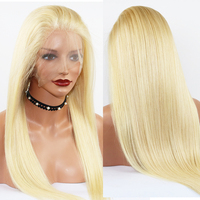 Eversilky 613 Blonde Wig Brazilian 360 Lace Frontal Wig with Baby Hair Straight Glueless Remy Human Hair 360 Wigs for Women