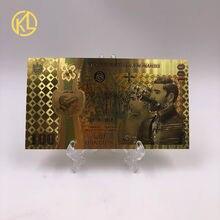 1-10 pces colorido ouro notas romeno 100 lei moeda de lembrança para 100th aniversário da unificação da roménia agradável presente